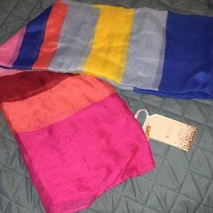 Striped sarong scarf